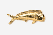 #203G - Dolphin / Mahi Mahi 24K Gold Plated Pin