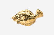 #205G - Fluke / Summer Flounder 24K Gold Plated Pin