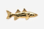 #206G - Snook 24K Gold Plated Pin