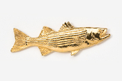 #207G - Striper / Striped Bass 24K Gold Plated Pin
