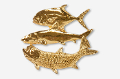 #H209CG - Flats Grand Slam 24K Gold Plated Pin