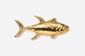 #218G - Yellowfin Tuna 24K Gold Plated Pin