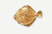 #222DG - Turbot 24K Gold Plated Pin