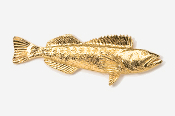 #224G - Lingcod 24K Gold Plated Pin