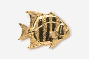 #239G - Spadefish 24K Gold Plated Pin