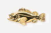 #240G - Rockfish 24K Gold Plated Pin