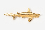 #251G - Hammerhead Shark 24K Gold Plated Pin