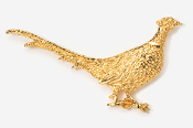 #301AG - Walking Pheasant 24K Gold Plated Pin