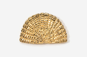 #305AG - Tail Fan 24K Gold Plated Pin