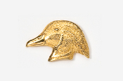 #317G - Woodduck Head 24K Gold Plated Pin