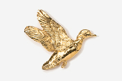 #322G - Flying Woodduck 24K Gold Plated Pin