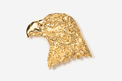 #330G - Eagle Head 24K Gold Plated Pin