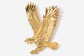 #333G - Left Flying Eagle 24K Gold Plated Pin