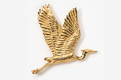 #345AG - Flying Heron 24K Gold Plated Pin