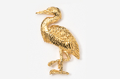 #345G - Great Blue Heron 24K Gold Plated Pin