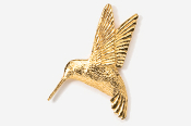 #350G - Left Flying Hummingbird 24K Gold Plated Pin