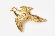 #351G - Dove 24K Gold Plated Pin
