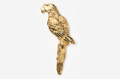 #354G - Parrot / Macaw 24K Gold Plated Pin