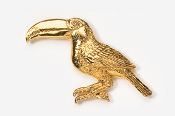 #356G - Toucan 24K Gold Plated Pin