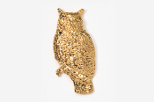 #360G - Great Horned Owl 24K Gold Plated Pin