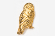#361G - Snowy Owl 24K Gold Plated Pin