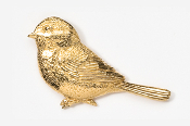 #371G - Chickadee 24K Gold Plated Pin