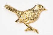 #374G - Robin 24K Gold Plated Pin