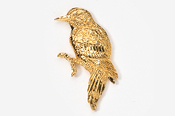 #378G - Woodpecker 24K Gold Plated Pin