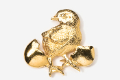 #382G - Chick and Egg 24K Gold Plated Pin
