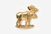 #406G - Standing Moose 24K Gold Plated Pin