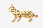 #409G - Fox 24K Gold Plated Pin