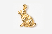 #412G - Rabbit 24K Gold Plated Pin