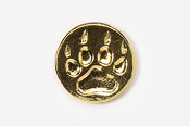 #418FG - Wolf Track 24K Gold Plated Pin
