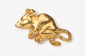 #419AG - Mouse 24K Gold Plated Pin