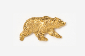 #423G - Grizzly Bear 24K Gold Plated Pin