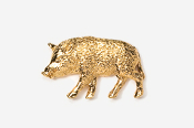 #425G - Wild Boar 24K Gold Plated Pin