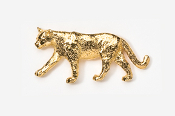 #426G - Mountain Lion 24K Gold Plated Pin