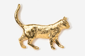 #438G - Walking Cat 24K Gold Plated Pin