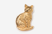 #439G - Sitting Cat 24K Gold Plated Pin