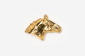 #440G - Horse Head 24K Gold Plated Pin