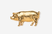 #446G - Pig 24K Gold Plated Pin