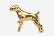 #451G - German Shorthair 24K Gold Plated Pin