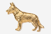 #452G - German Shepherd 24K Gold Plated Pin