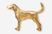 #453BG - Coon Hound 24K Gold Plated Pin
