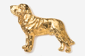 #453CG - Bloodhound 24K Gold Plated Pin