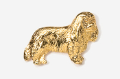 #455CG - Cavalier King Charles 24K Gold Plated Pin