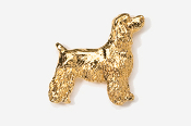 #455EG - Pet Clip Cocker Spaniel 24K Gold Plated Pin