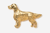 #457AG - Irish Setter 24K Gold Plated Pin