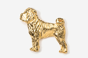 #458AG - Shar Pei 24K Gold Plated Pin