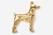 #459G - Doberman 24K Gold Plated Pin
